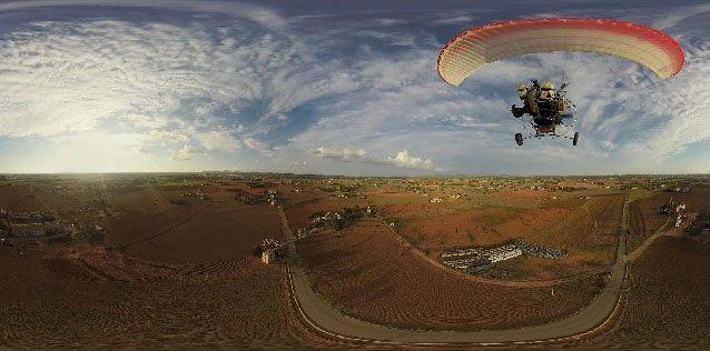 Panorámica desde el aire